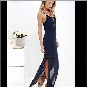 Lulu's-Gentlefawn Navy Fleur Maxi Dress